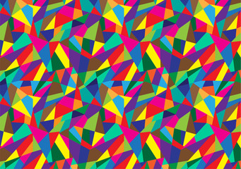 Abstract geometric colorful pattern background.