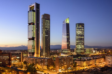 Madrid, Spain Financial District