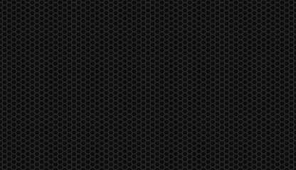 Seamless black honeycomb background