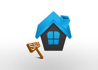 house sale solution symbol, icon logo