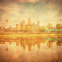 Vintage image of Angkor Wat, Cambodia