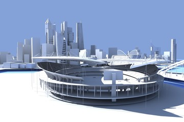 city skyline Stadion