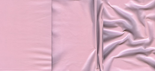 Set of light pink leather textures