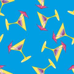 Foto op Plexiglas Geometrische dieren Martini seamless pattern