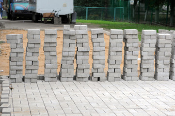 Russia, Laying paving in the Moscow court