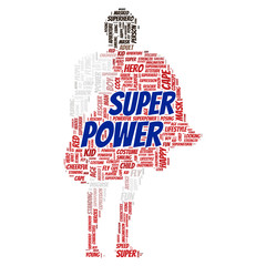 Superpower word cloud concept