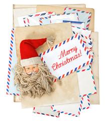 Vintage air mail envelopes. Season greetings. Merry Christmas