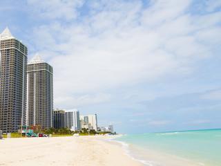 Wall Mural - Ocean waterfront of Miami Beach, Florida.