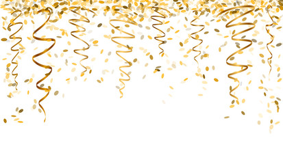 New year toast champagne banner golden background