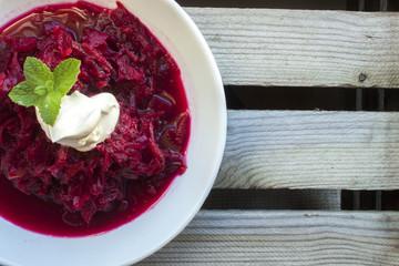Russian borch soup
