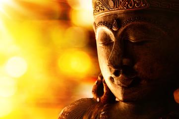 Photo sur Plexiglas Buddha bronze buddha statue