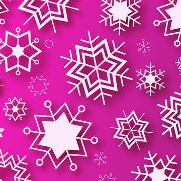 Wintertime - purple winter design