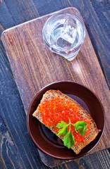 bread with caviar
