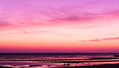 Keuken foto achterwand Candy roze Bright Horizon Sunset Glow