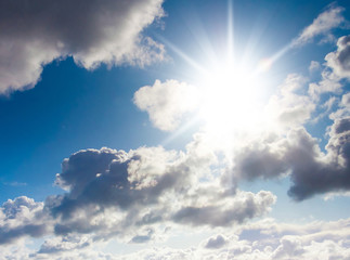 Background of Blue Under Sun