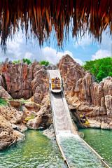 Foto op Aluminium Amusementspark Amusement park in Spain