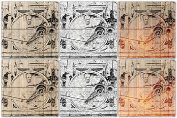 collage train wheel