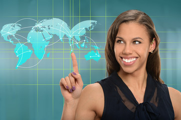 Businesswoman Using Electronic Presentation