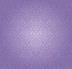 Violet vintage seamless pattern background design