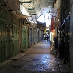 Narrow Dark Streets of Old City, Jerusalem