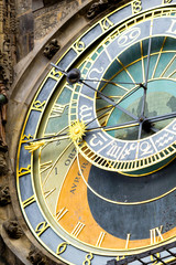 Prague astronomical clock at the Old Town cropped