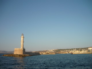 The lighthouse from Chania, Greece