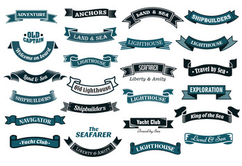 Nautical themed banners
