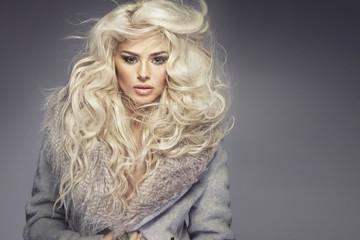 Closeup photo of the goregous blonde