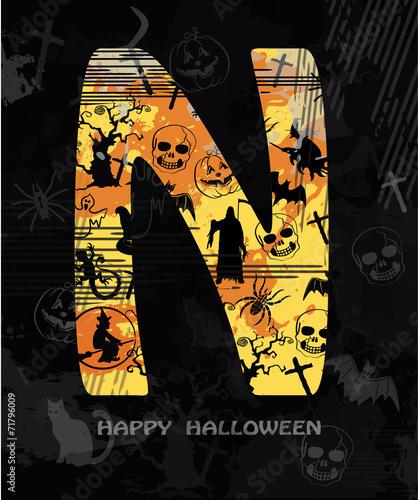 alphabet, Halloween, font