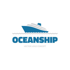OceanShip - vector logo. Sea ship illustration.
