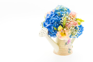 bouquet flower Hydrangea isolated on white