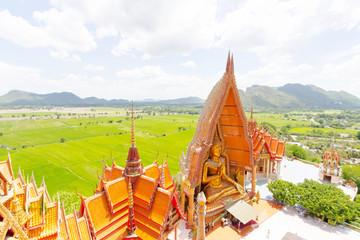 golden Buddha in Wat Tham Suea,Kanchanaburi