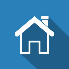 home icon with long shadow