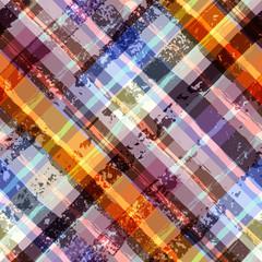 Grunge diagonal plaid pattern.