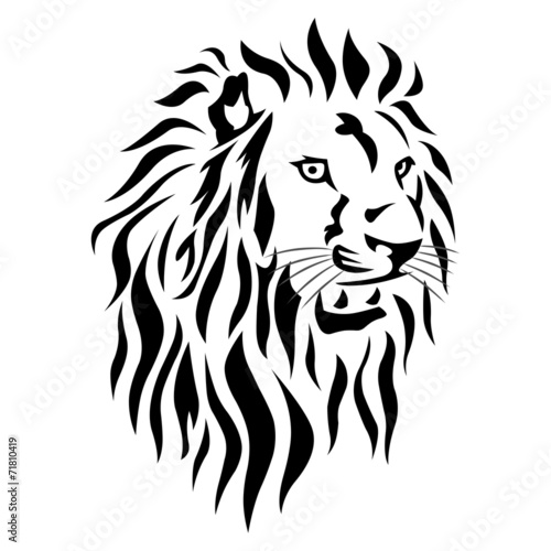 Tatouage Lion Tribal Stock Photo And Royalty Free Images On Fotolia