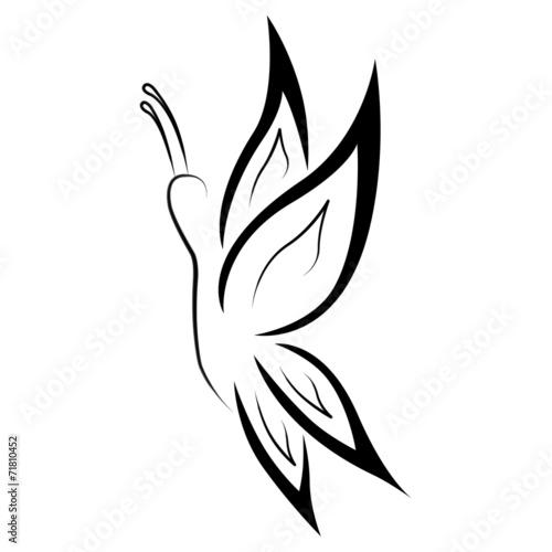 Tatouage papillon tribal photo libre de droits sur la - Tribal papillon ...