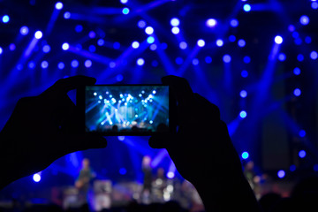 Photographing the concert  - blurred stage lights.