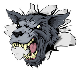 Monster Wolf Mascot Breakthrough