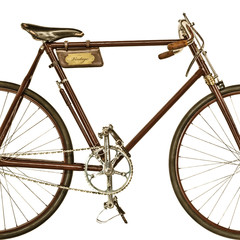Retro styled image of an old racing bicycle