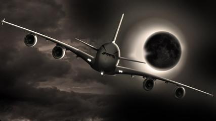 Flug in die Nacht, Sonnenfinsternis