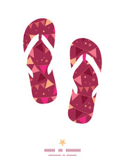 Vector christmas decorations flags flip flops silhouettes