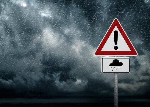 Caution - Heavy Rain
