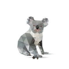 Abstract koalas isolated on a white backgrounds