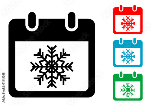 Simbolo Calendario.Pictograma Calendario Con Simbolo Invierno Con Varios