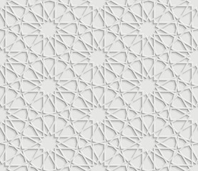 Islamic geometric pattern on white Background