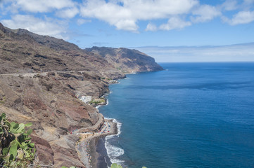 A view of Gaviotas Beach  in Tenerife, Canary Islands, Spain