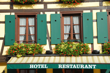 Hotel and restaurant in Alsace, France