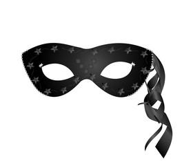 Realistic black carnival mask