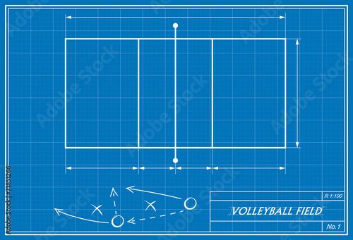 Volleyball on blueprint stock image and royalty free vector files volleyball on blueprint malvernweather Images