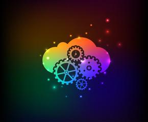 Cloud computing symbol,clean vector